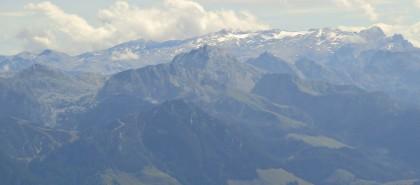 Blick zur übergossenen Alm und Hagengebirge