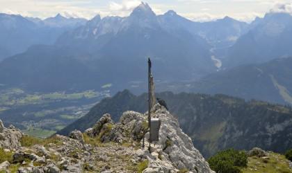 das zweite Gipfelkreuz auf dem Berchtesgadener Hochthron