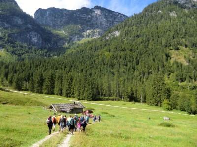 auf dem Weg zur Schwarzbach Alm