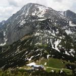 Blick zum Schneibstein mit Carl-von-Stahl Haus