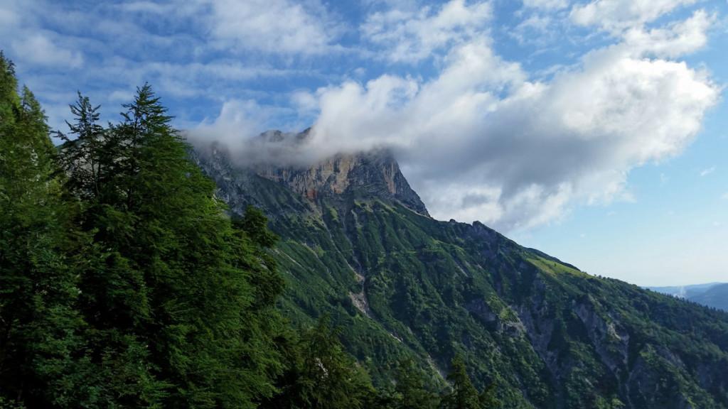 Wolken am Untersberg