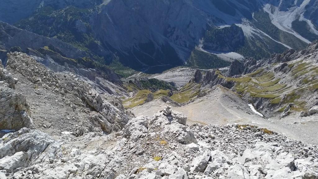 Abstieg von der Watzmann Südspitze ind Wimbachgries