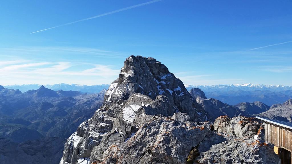 Blick vom Hocheck zur Mittelspitze