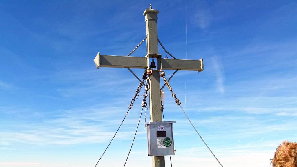 Das Gipfelkreuz auf der Watzmann Südspitze