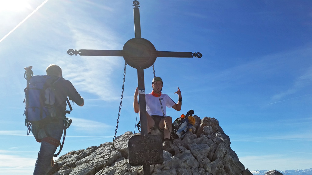 Auf der Mittelspitze des Watzmann