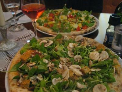 Vegane Pizza in der Pizzeria Jolly in Schönau a. Königssee