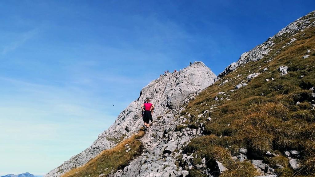 unterhalb des Gipfels der Schärtenspitze