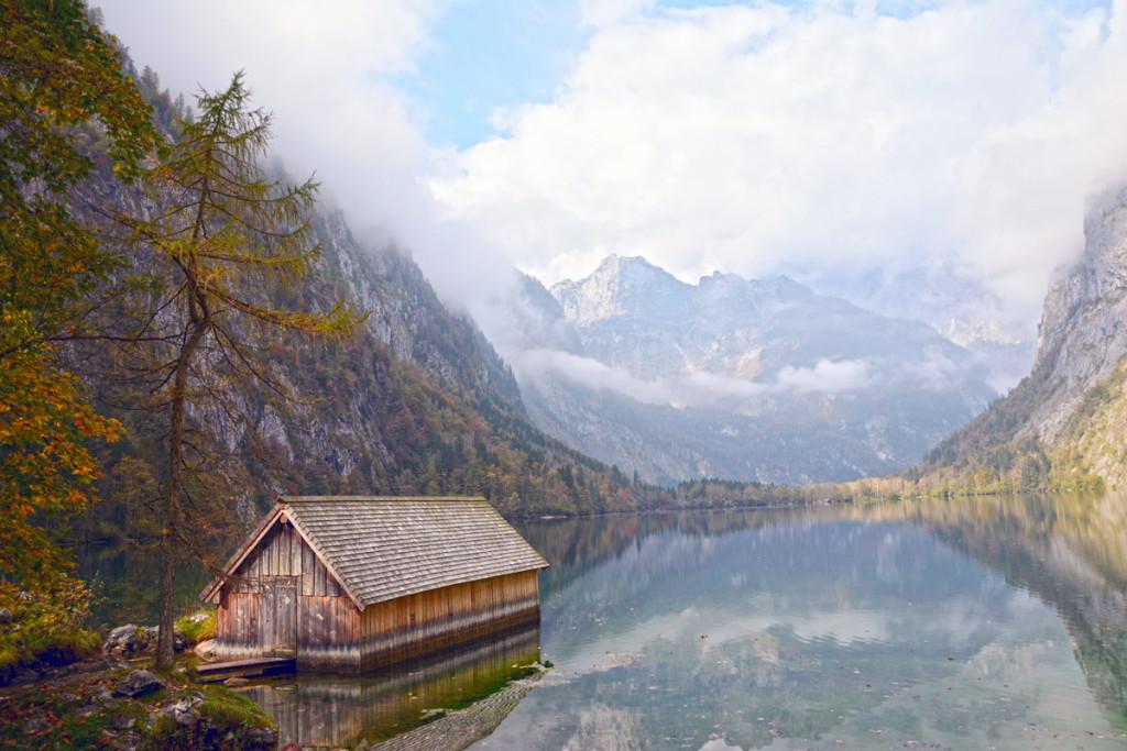 Die Bootshütte an der Fischunkelalm