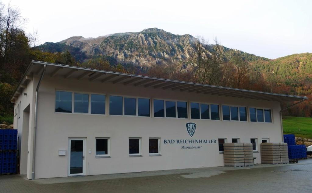 Hier wird das Bad Reichenhaller Mineralwasser abgefüllt
