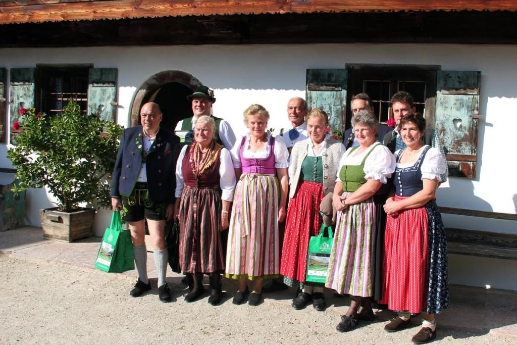 Die bayerischen Gewinner der EuRegio-Wiesenmeisterschaft 2014 Quelle: Molkerei Berchtesgadener Land