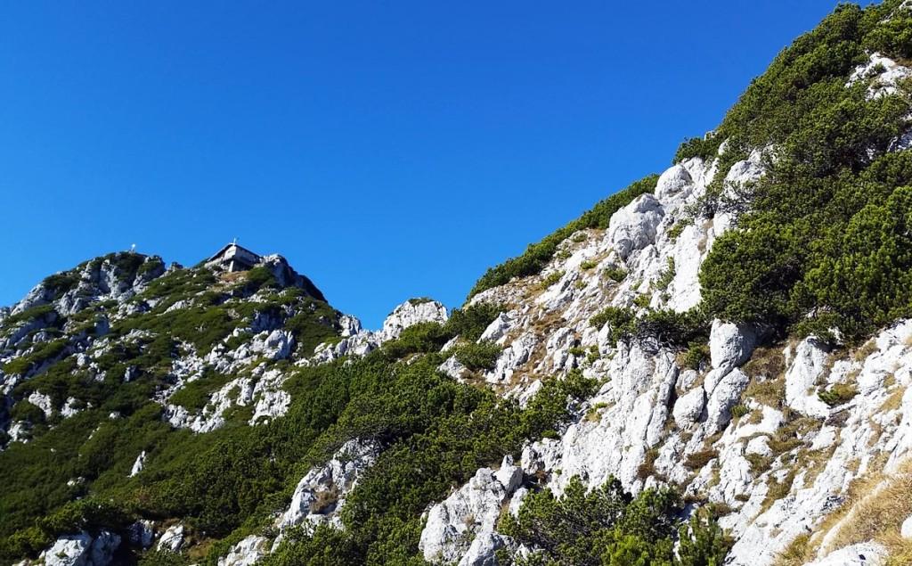 Blick zum Staufenhaus im Aufstieg