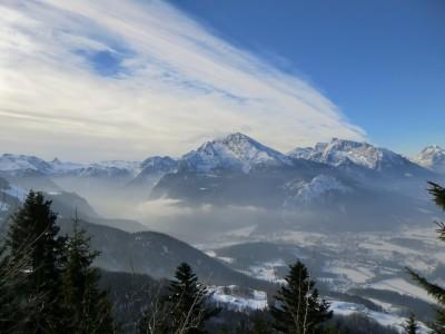 Blick zum Watzmann und Schönau