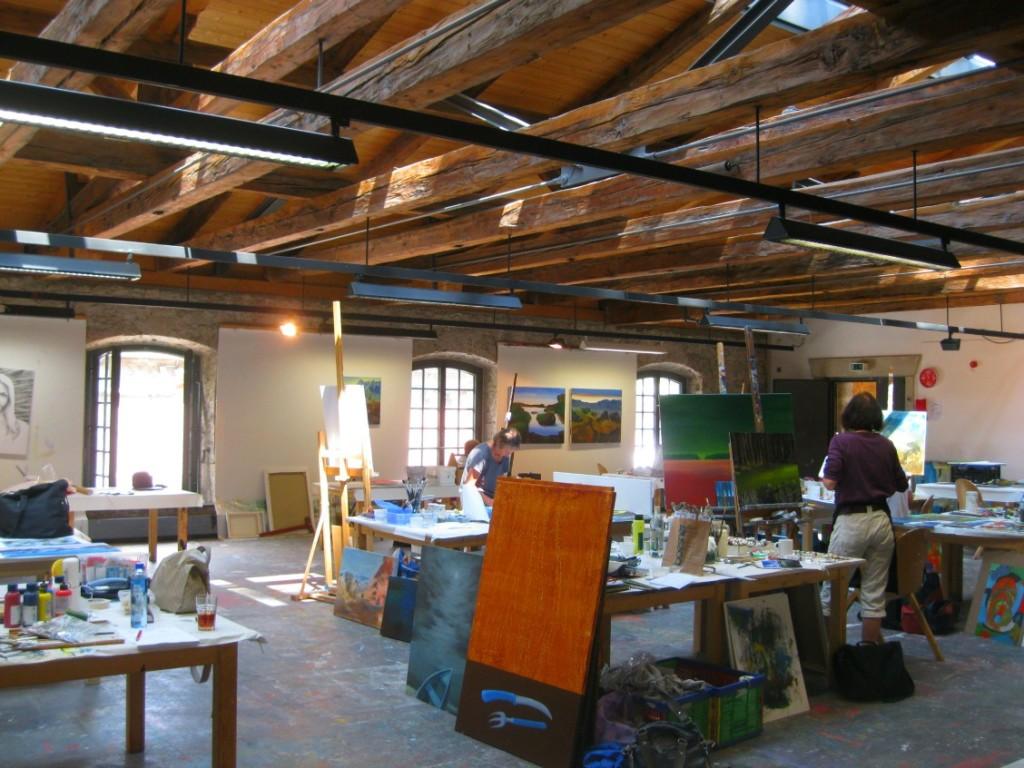 Blick in ein Atelier der Kunstakademie Bad Reichenhall