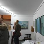 Vernissage-Besucher in der Galerie am Schloss