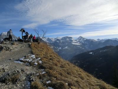 Hochbetrieb am Gipfel