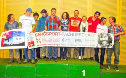 """Die Siegermannschaft der """"Nobodys"""" kletterte beim Spendenklettern insgesamt 1.125 Routen."""