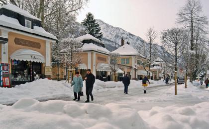 Einkaufsbummelim winterlichen Bad Reichenhall