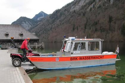 Rettungsboot der Wasserwacht mit ATV © BRK BGL
