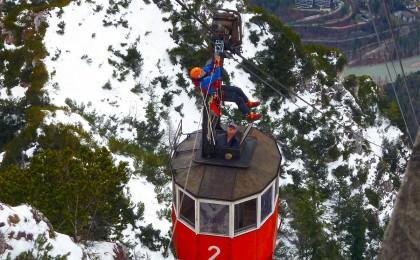 Bergwacht Übung an der Predigtstuhlbahn © BRK BGL