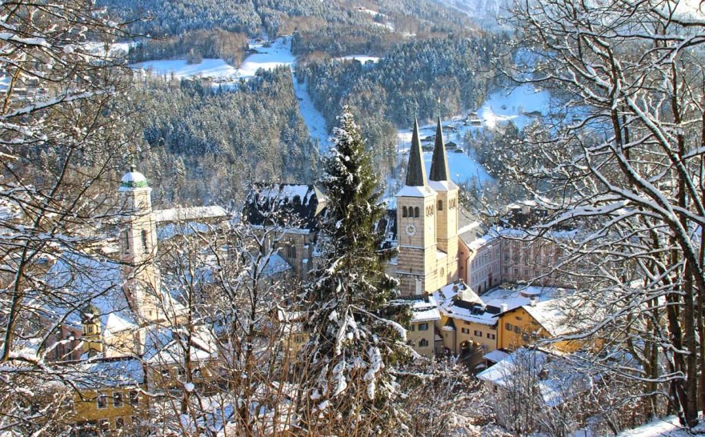 Blick von der Soleleitung zum Markt Berchtesgaden