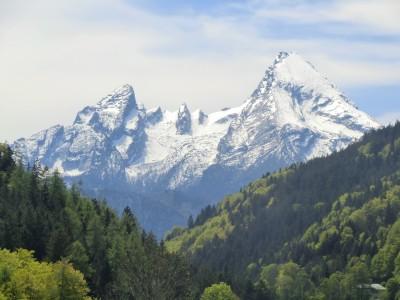 Watzmannpanorama von der Hintergern aus gesehen