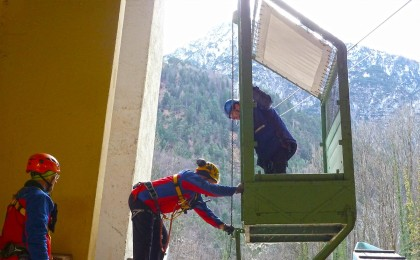 Hilfskabine zur Seilbahnrettung © BRK BGL