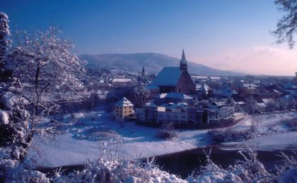 Laufen und Oberndorf im Winter