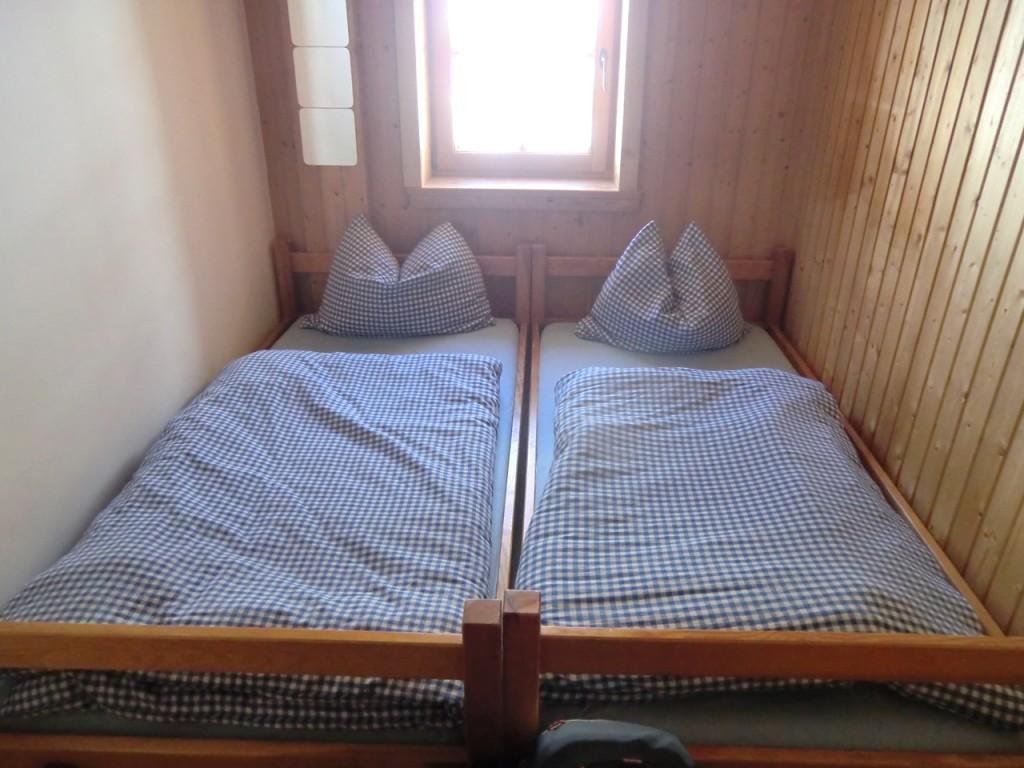 eines der Doppelzimmer im Stahlhaus