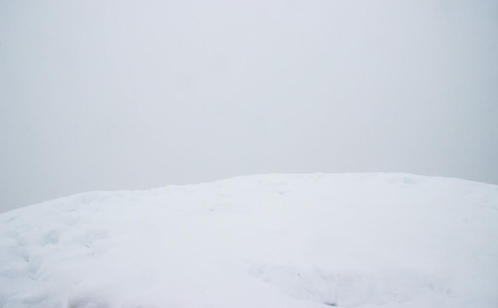 """Die """"Aussicht"""" vom Gipfel des 3. Watzmannkindes"""