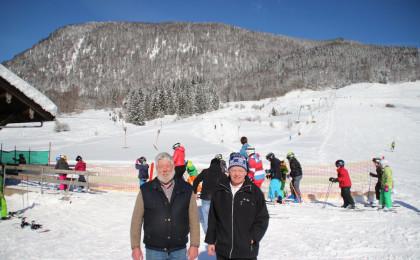 Betreiber des Skiliftes: Franz Hinterseer und Peter Eicher