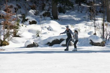 Eisläufer auf dem Hintersee
