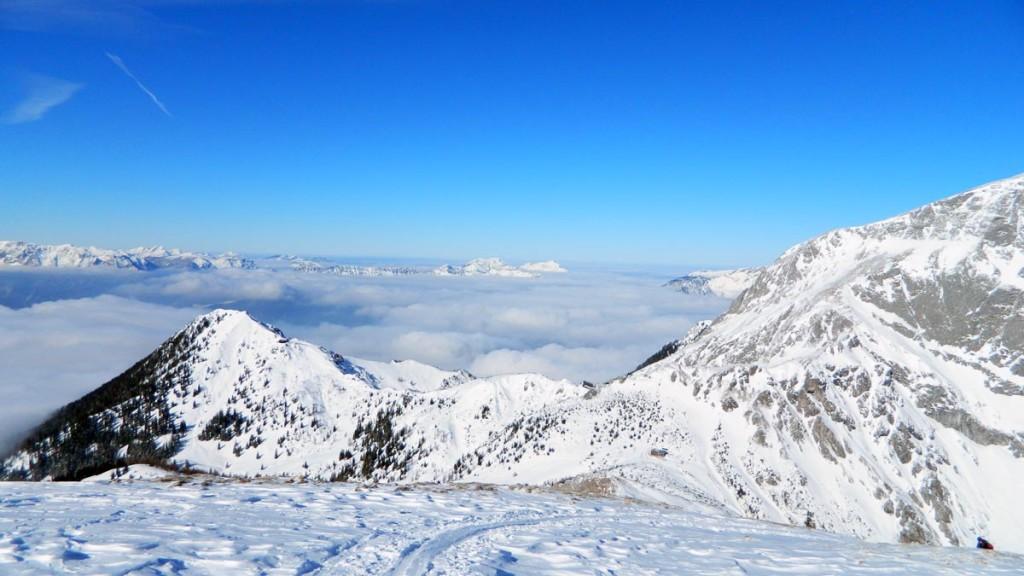 Blick zu Jenner und Hohem Brett kurz unterhalb des Gipfels