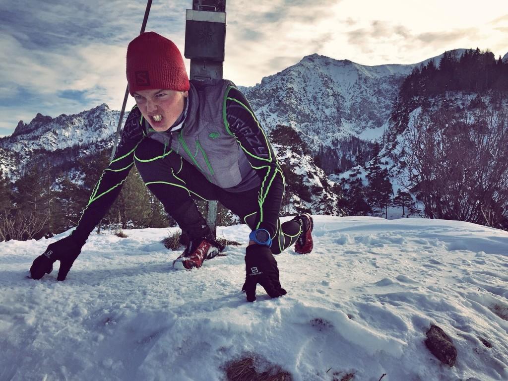 Philipp Reiter vor seinem suicide-downhill