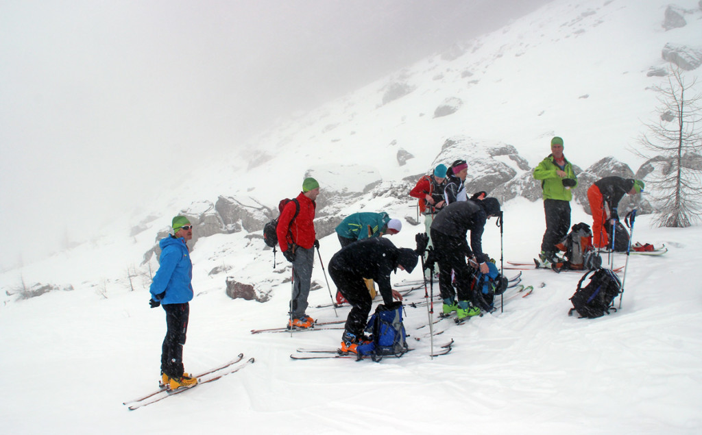 Skitourenrast im Watzmannkar