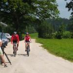 Dreharbeiten Regional-Produkte Film mit Radfahrern