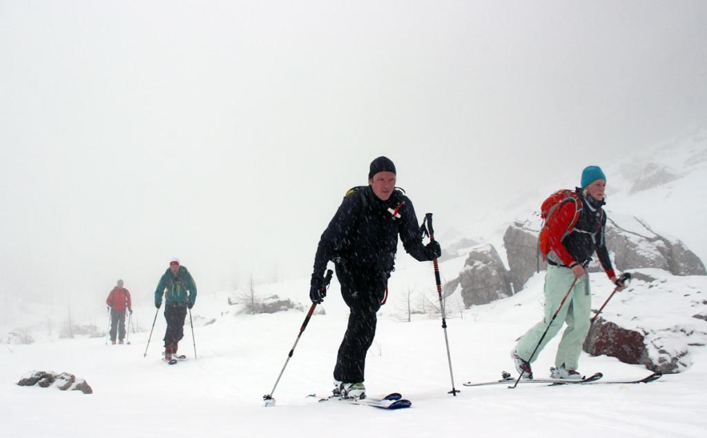 Skitour im Nebel im Watzmannkar