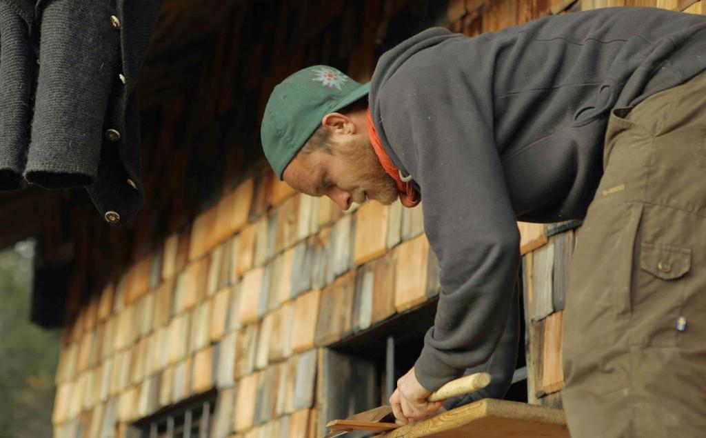 Arbeiten an der Hütte