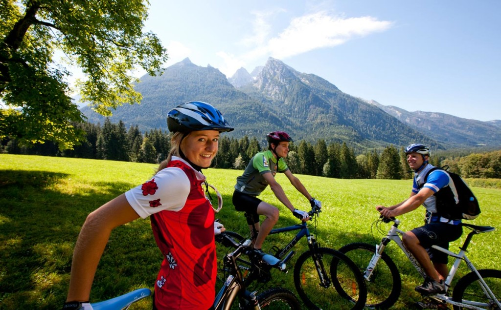Mountainbiker in Ramsau