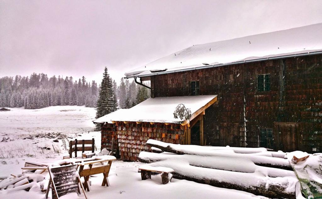 Wintereinbruch auf der Anthauptenalm