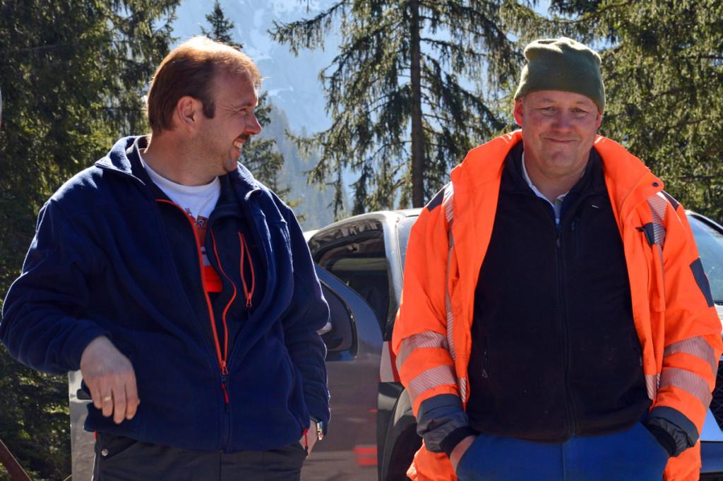Betriebsleiter Hans Kogler mit seinem Mitarbeiter Hermann Wächter