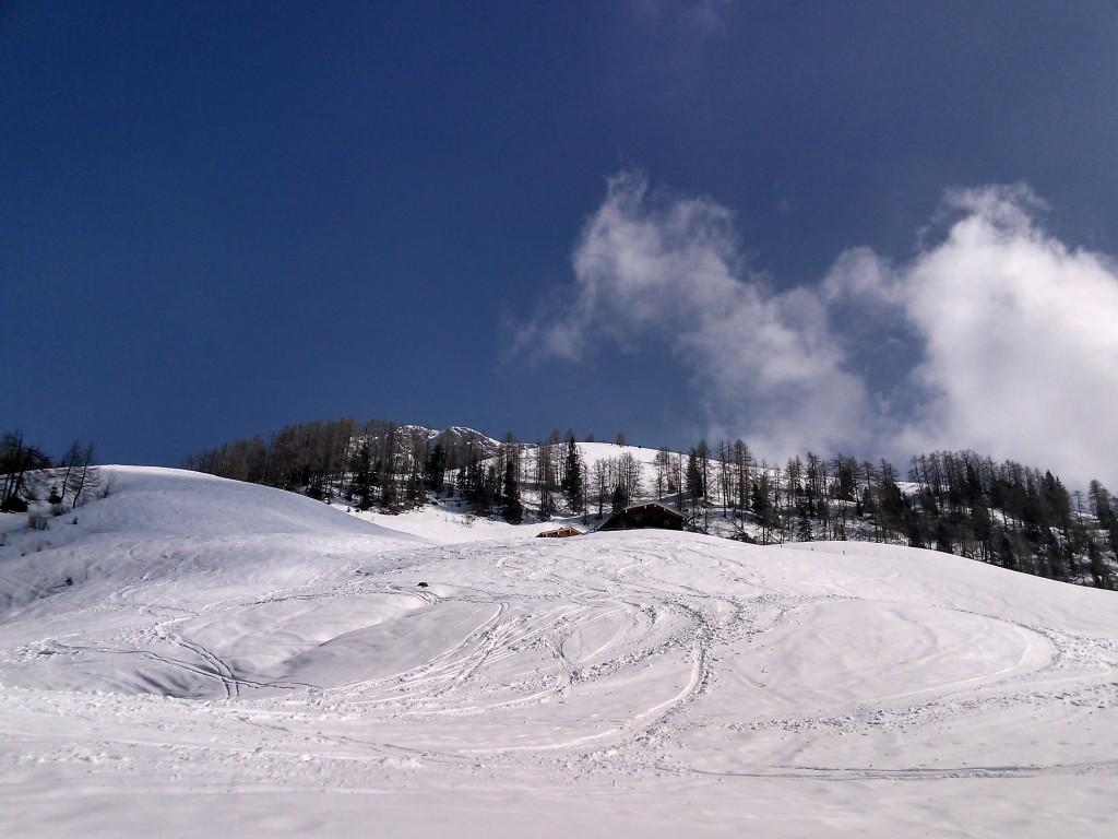 Blick/Aufstieg zu den hohen Rossfeldern