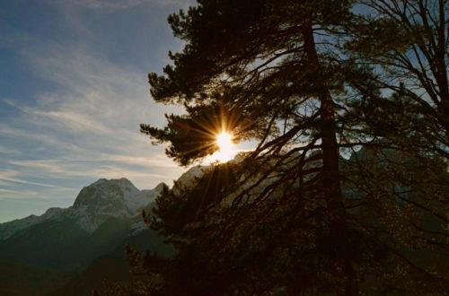 Sonnenuntergang auf der Soleleitung