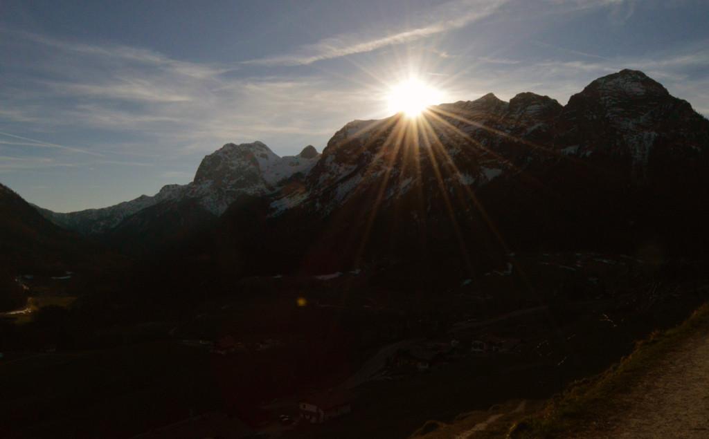 Sonnenuntergang hinter der Reiteralm