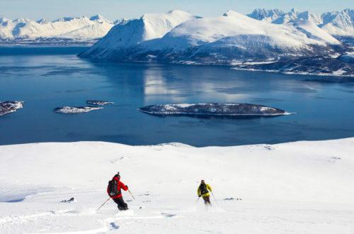 Die Abfahrt vom Nordfjellet