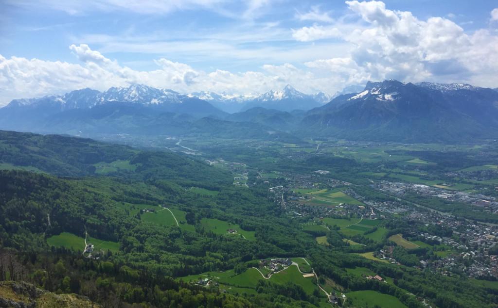 Ausblick vom Gaisberg zum Watzmann