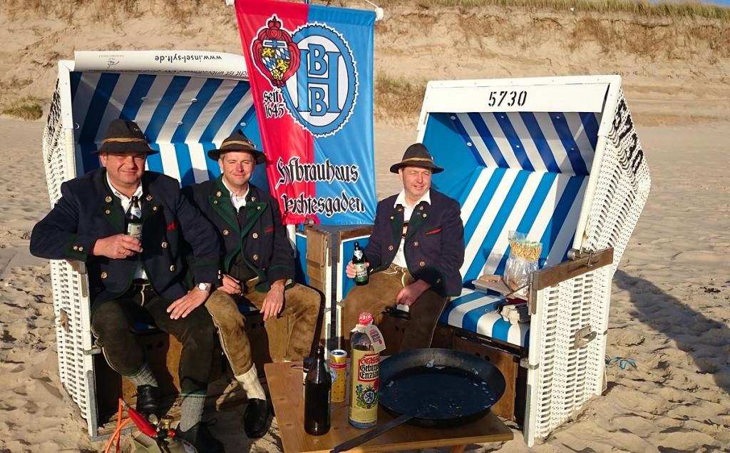 Oxn-Aug'n Trio im Strandkorb