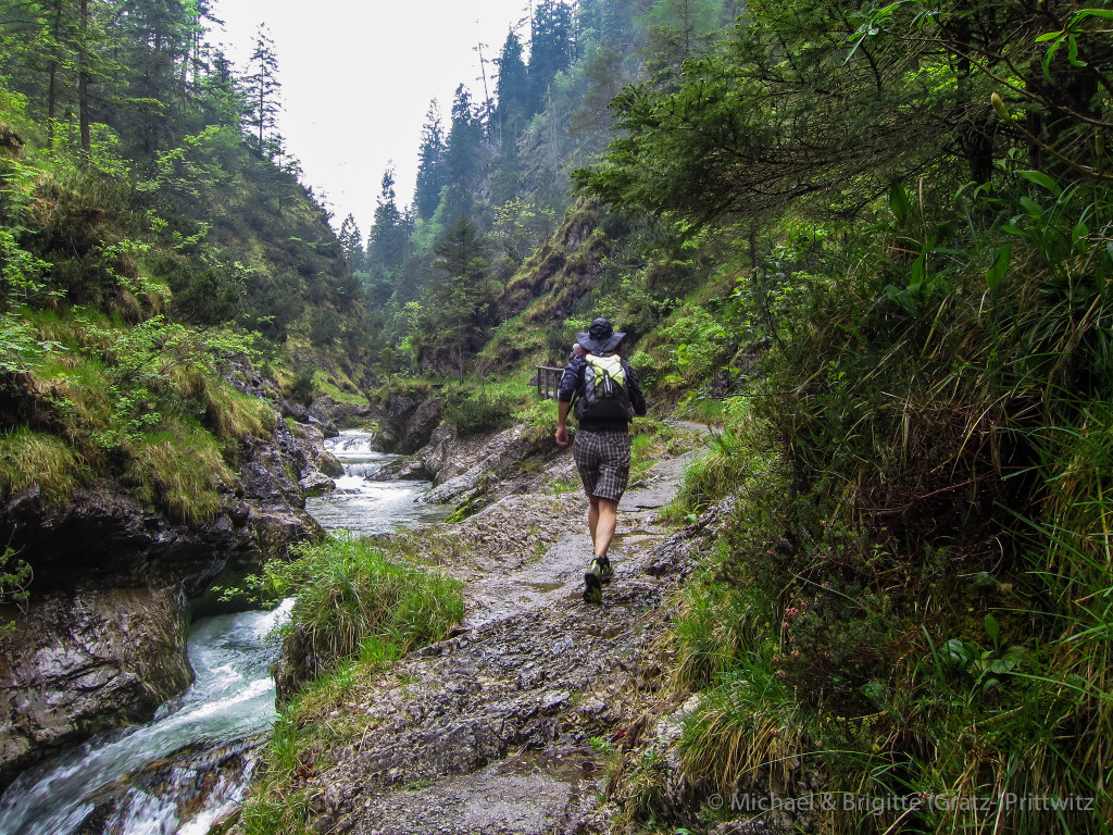 Lauf durch die Weißbachschlucht