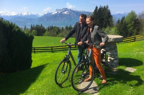 Gabriella Squarra (Kur GmbH Bad reichenhall) und Nick Schubert (Movelo)