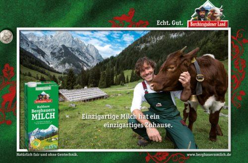 Bergbauernmilch: Plakatmotiv Bindalm