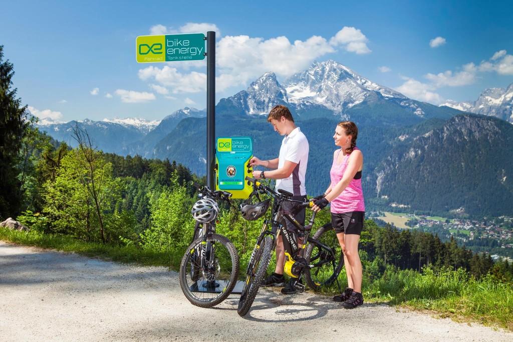 E-Bike Ladestation beim Windbeutelbaron